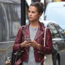 Alicia Vikander steps out in London, England (August 28, 2015)