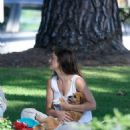 Minka Kelly takes her dog Fred to the park in Beverly Hills - 454 x 536