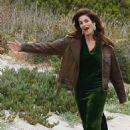 Cindy Crawford on a Photoshoot in Malibu