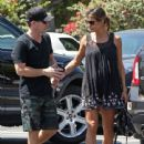 Elisabetta Canalis and her hubby are spotted out running errands in West Hollywood, California on August 29, 2015 - 441 x 600