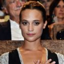 Actress Alicia Vikander attends the premiere of 'The Light Between Oceans' during the 73rd Venice Film Festival at Sala Grande on September 2, 2016 in Venice, Italy