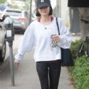 Lucy Hale heading to the gym in Los Angeles - 454 x 683