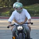 Ana De Armas with Ben Affleck – Cruise on cafe racer BMW motorcycle in Brentwood