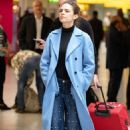 Hayley Atwell – Arriving at Heathrow Airport in London