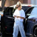 Hailey Bieber – Visiting the Nine Zero One hair salon in West Hollywood