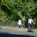 Lily James and Matt Smith – Enjoying a bike ride in North London
