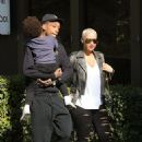 Amber Rose and Wiz Khalifa take their son Sebastian to an early Thanksgiving Party at a Church in Studio City, California -  November 23, 2016