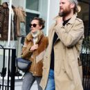 Kara Tointon with husband out in Notting Hill - 454 x 797