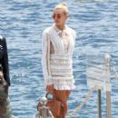 Hailey Baldwin Leaving Eden Roc in Cannes