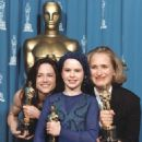 Holly Hunter, Anna Paquin and the director Jane Campion At The 66th Annual Academy Awards (1994) - Press Room