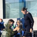Stephanie Corneliussen – Shows off her baby bump in Los Angeles