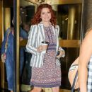Debra Messing – Leaving NBC Studios in NYC