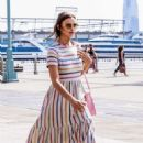 Irina Shayk in Long Dress out in New York
