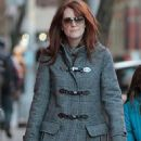 Julianne Moore And Her Family Bundle Up In NYC