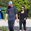 Ashton Kutcher and Mila Kunis: out for a walk in Hollywood