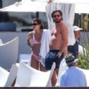 Sofia Richie in Pink Bikini with Scott Disick in Mexico