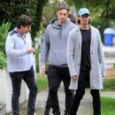 Patrick Schwarzenegger and his mother Maria Shriver are spotted out house hunting for Patrick in Hollywood, California on January 10, 2017 - 454 x 538