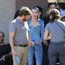 Miley Cyrus – Filming a movie candids in Los Angeles - 454 x 680