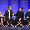Caitriona Balfe, Sam Heughan, Tobias Menzies, Ronald D. Moore  -March 12, 2015-Inside the PALEYFEST 'Outlander' Panel - 454 x 317