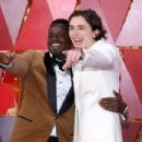 Daniel Kaluuya and Timothée Chalamet At The 90th Annual Academy Awards  (2018)