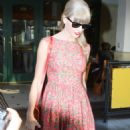 Taylor Swift stops for dinner at The Farm in Beverly Hills, California on August 22nd