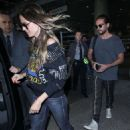 Heidi Klum in Jeans – Arrives at LAX Airport in LA - 454 x 681