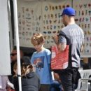Pete Wentz spotted at Farmer's Market Sunday October 16, 2016 - 412 x 600