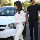 Kourtney Kardashian in White – Out in Los Angeles