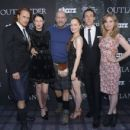 The Outlander Cast: Sam Heughan, Caitriona Balfe, Graham McTavish, Lotte Verbeek, Tobias Menzies and Nell Hudson -  Starz Series 'Outlander' Premiere - Comic-Con International 2014 - 454 x 432