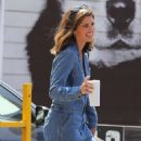 Katherine Schwarzenegger in jeans jumpsuit leaves a pet adoption animal shelter in Los Angeles - 454 x 681