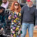 "Salma Hayek – Filming ""Limited Partners' in Atlanta - 454 x 681"