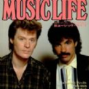 John Oates, Daryl Hall - Music Life Magazine Cover [Japan] (11 November 1982)