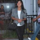 Keke Palmer Heading To The Alicia Keys Concert At The Staples Center, 6 April 2010