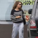 Mila Kunis: leaves the gym after a workout in Los Angeles