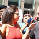 Selena Gomez Arriving At Sirius Xm Studios In Nyc