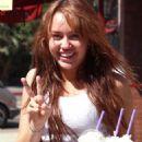 Miley Cyrus At The Coffee Beam Tea Leaf InToluca Lake - 20 September 2008