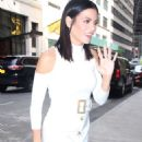 Jenna Dewan Tatum in White Dress out in New York City - 454 x 624