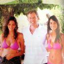 Socialite sisters Rose and Marina Hanbury with former PM Tony Blair