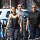 Lucy Liu heads to the set of 'Elementary' in West Village - 454 x 650