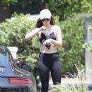 Dakota Johnson in Leggings out in West Hollywood