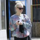 Ashlee Simpson Leaves a gym in Studio City - 454 x 630