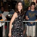 Alison Brie Arrives At Soho Apple Store In Ny