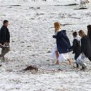 Nicole Kidman – Filming 'Big Little Lies' on the beach in Monterey