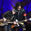 Nikki Sixx and DJ Ashba of Sixx:A.M. perform at The Joint inside the Hard Rock Hotel & Casino on April 10, 2015 in Las Vegas, Nevada - 454 x 333