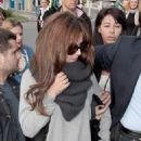Cheryl Cole: at the Nice Côte d'Azur Airport in Nice