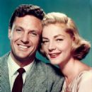 Lauren Bacall and Robert Stack