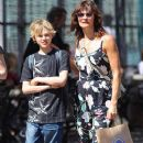 Model Helena Christensen and son Mingus were out and about in SoHo, New York on May 12, 2012