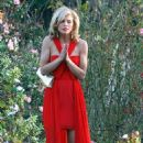 """AnnaLynne McCord and Jessica Stroup were spotted hard at work on the set of """"90201"""" yesterday in Los Angeles (February 12)."""