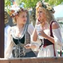 Aly and AJ Michalka attended The Original Renaissance Pleasure Faire yesterday, May 5, in Irwindale, CA. The ladies, and their pals, were decked out in full costume - 432 x 594