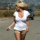 Pamela Anderson In A Blanket While Watching Her Son Play Baseball 2008-04-16